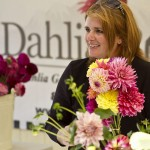 Dahlia Barn owner, Aimee Sherrill manages the website, all office work, customer orders with cut flowers and tubers, among many other things.
