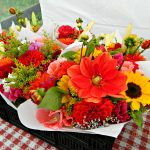 Late July - Dahlias & Sunflower mixed bouquets